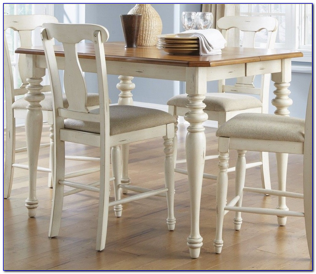 White Counter Height Barstool