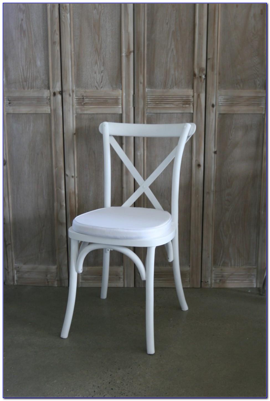 White Cross Back Chairs Brisbane
