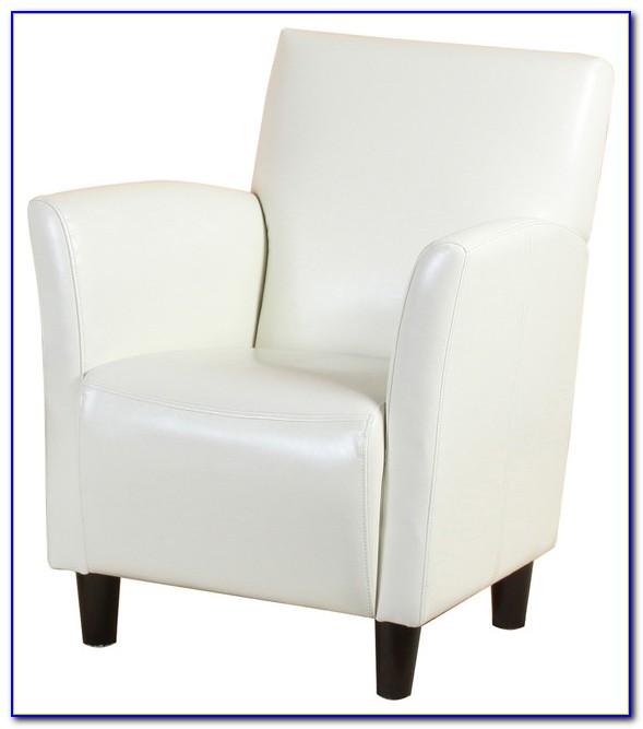 White Leather Club Chair