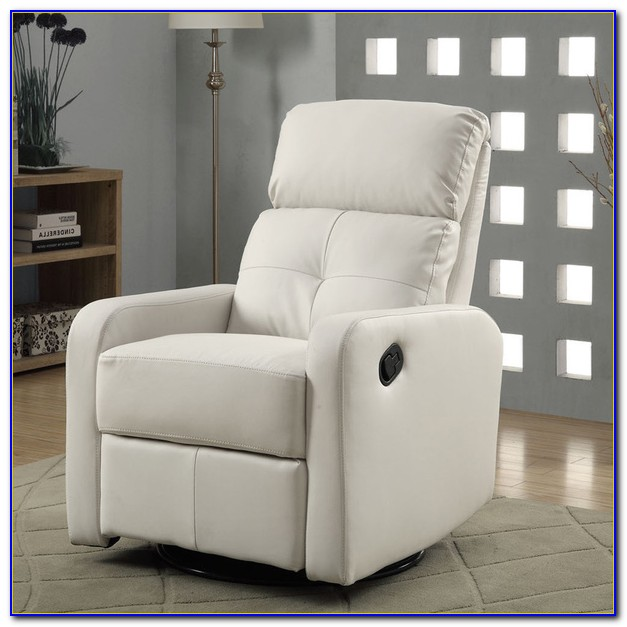 White Leather Electric Recliner Chair
