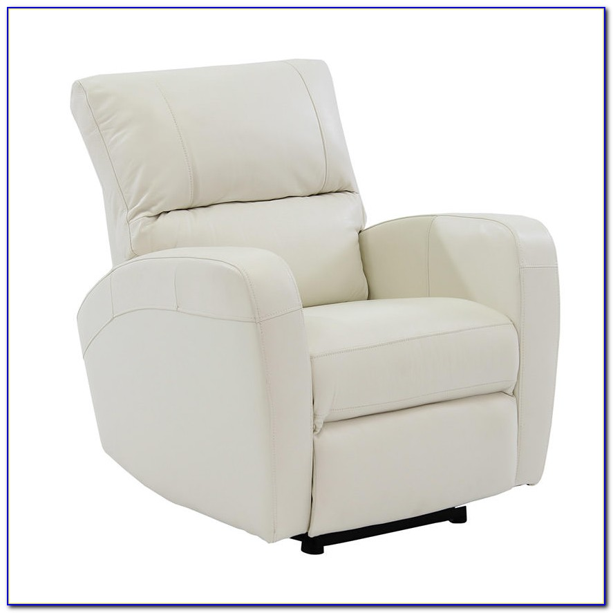 White Leather Power Recliner Chair