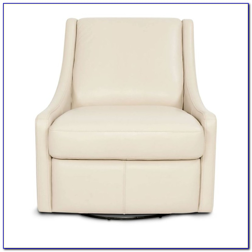 White Leather Swivel Chair Ebay