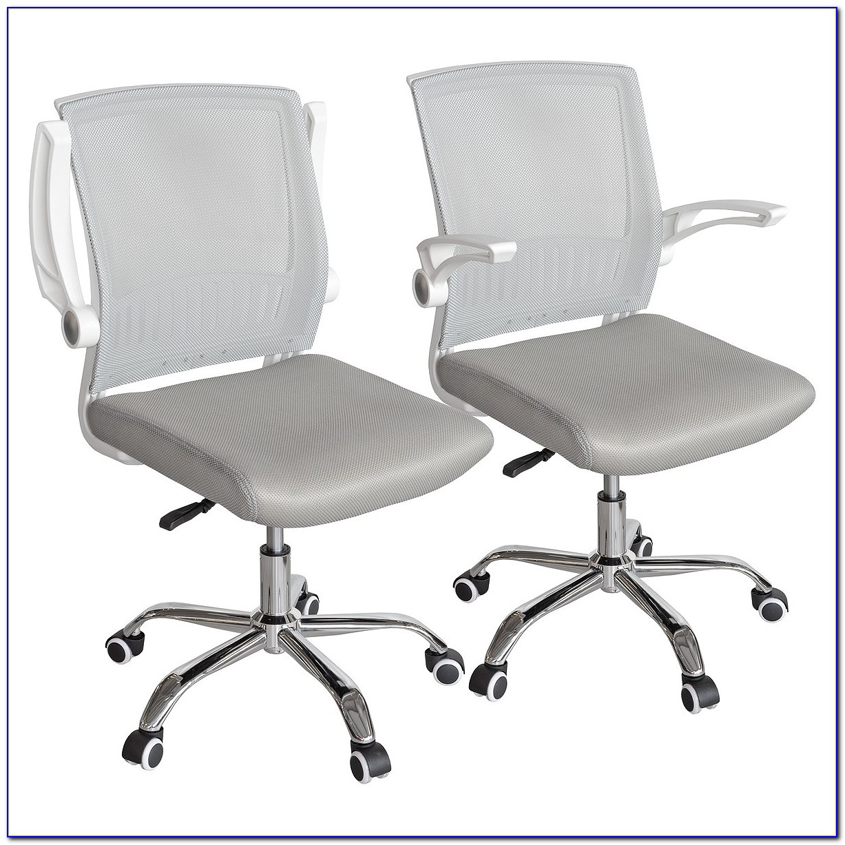 White Mesh Back Desk Chair