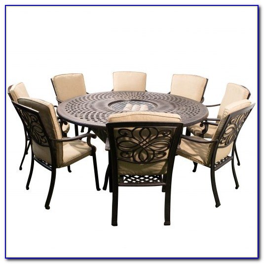 White Metal Outdoor Dining Set