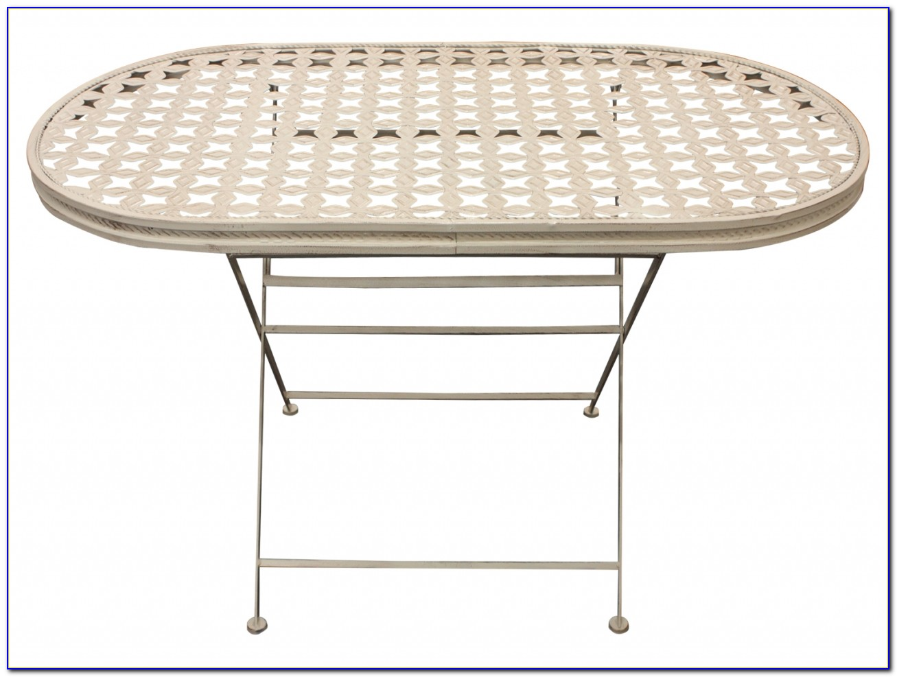 White Metal Patio Table And Chairs
