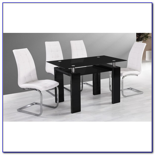 White Modern Dining Table And Chairs