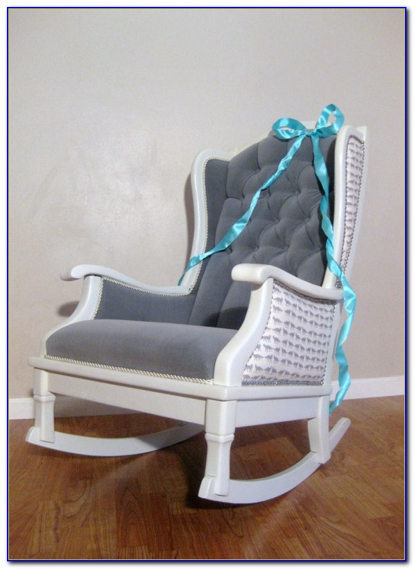 White Nursery Glider Rocking Chair