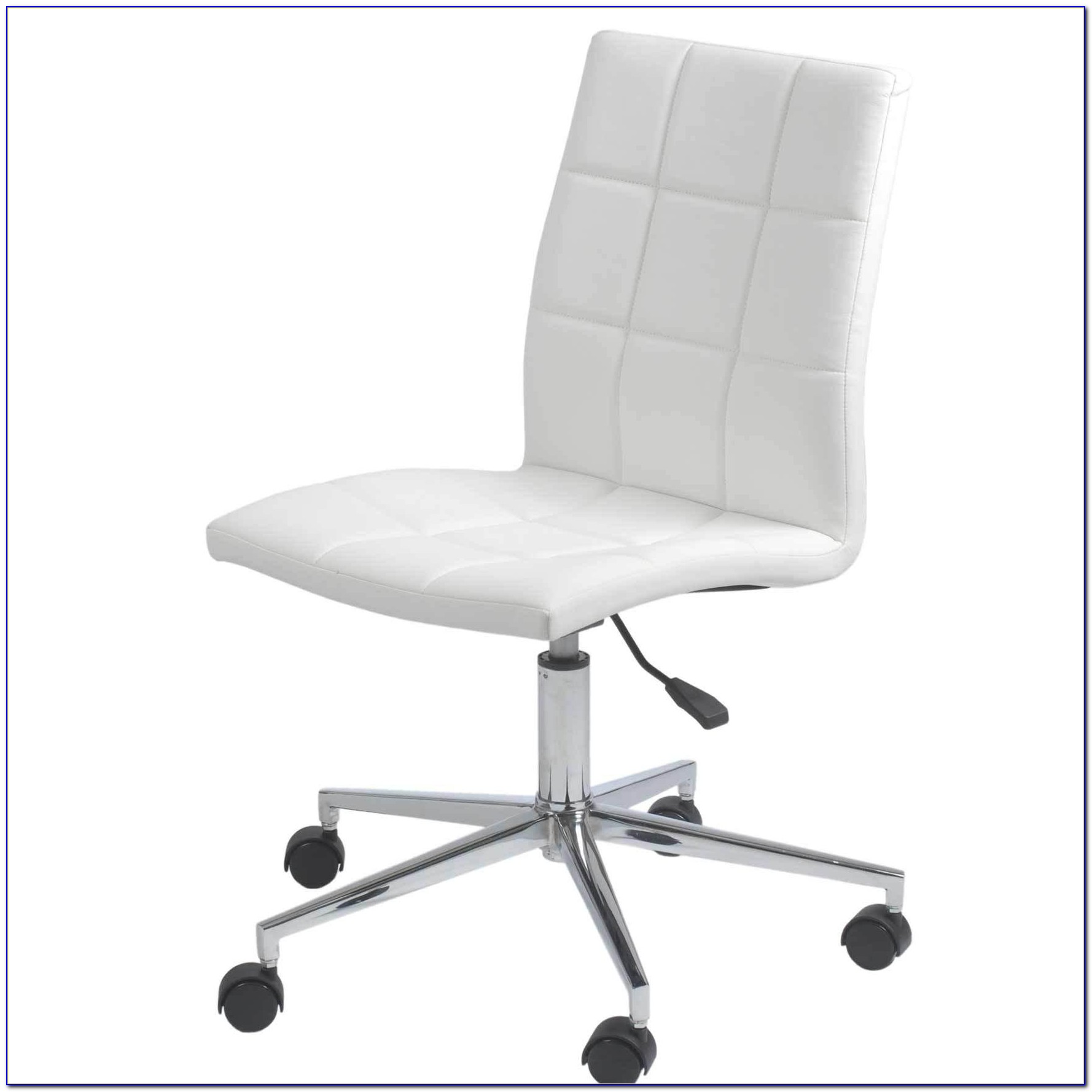 White Office Chair No Arms
