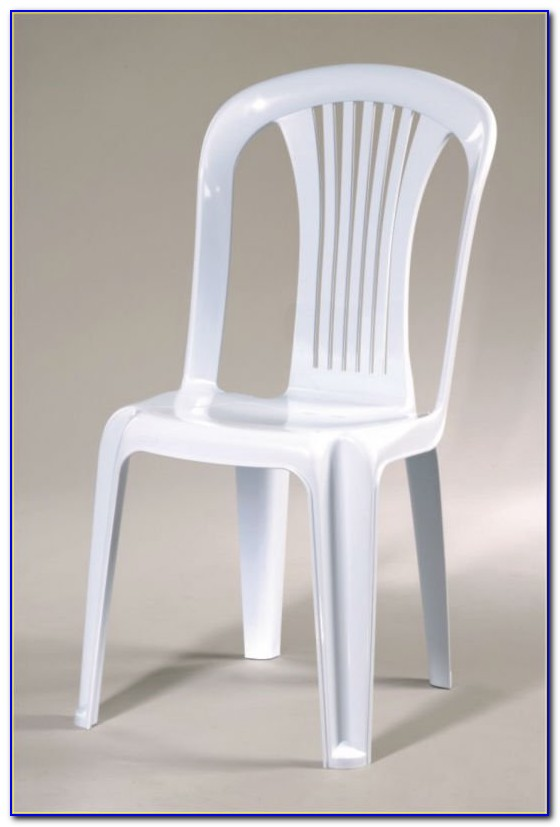 White Plastic Folding Patio Chairs