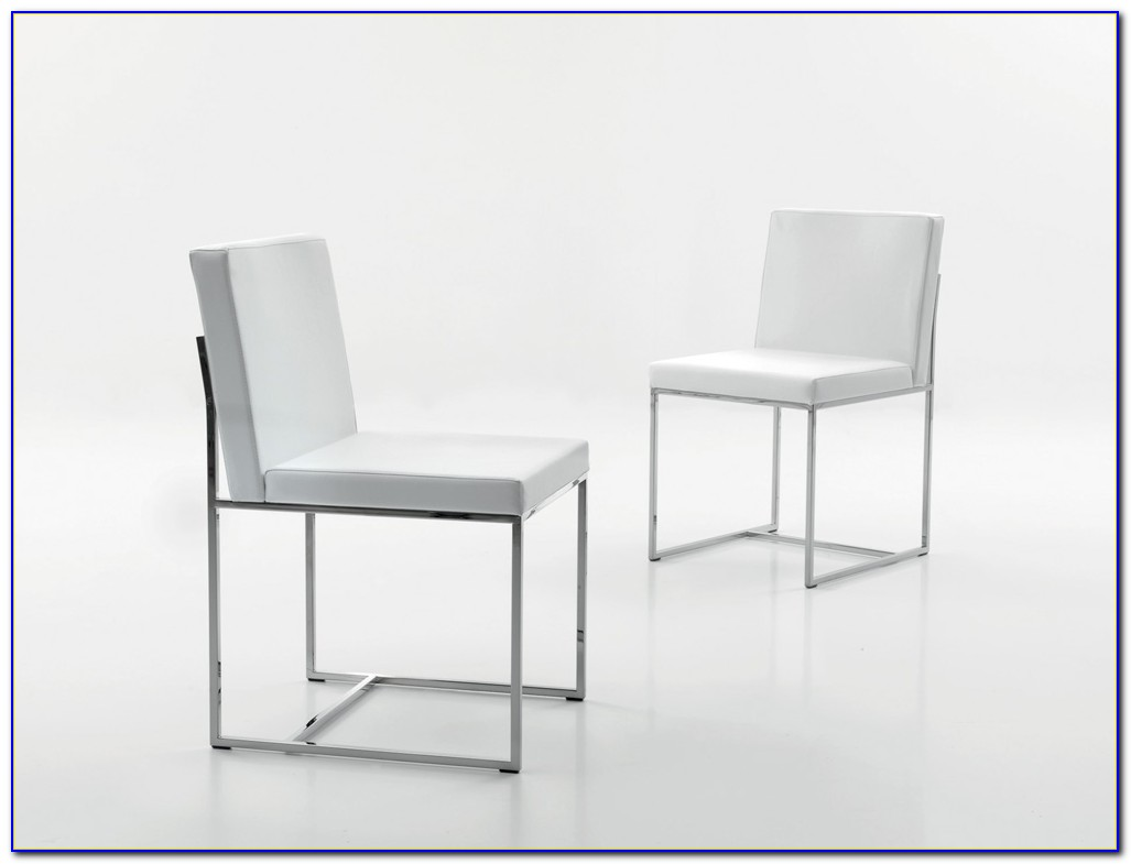 White Plastic Modern Dining Chairs