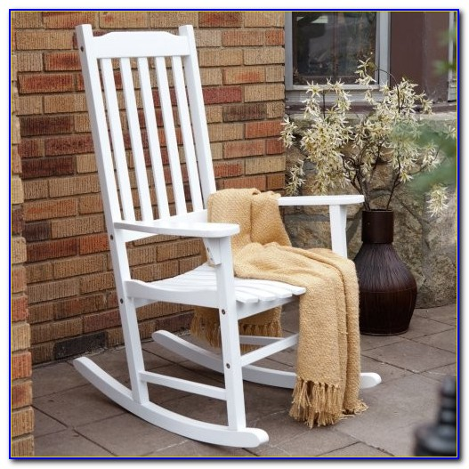 White Resin Outdoor Rocking Chair