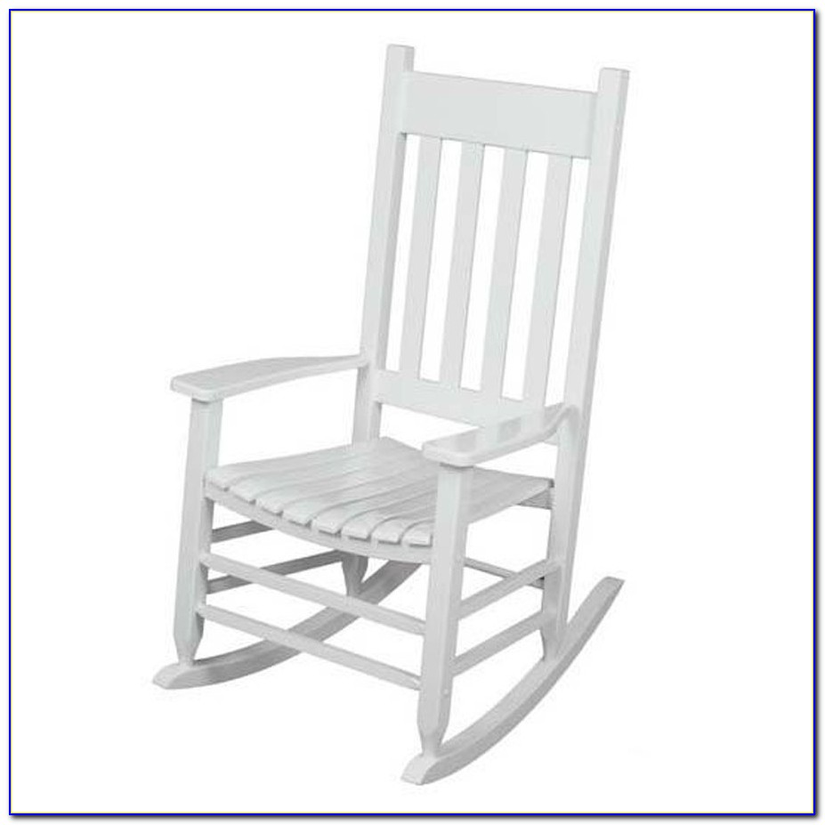 White Wicker Rocking Chair Outdoor