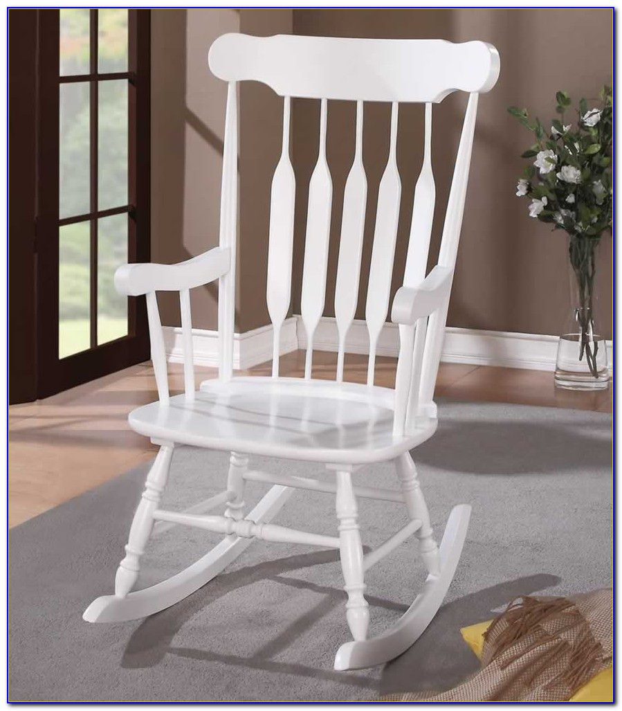White Wood Rocking Chair Outdoor