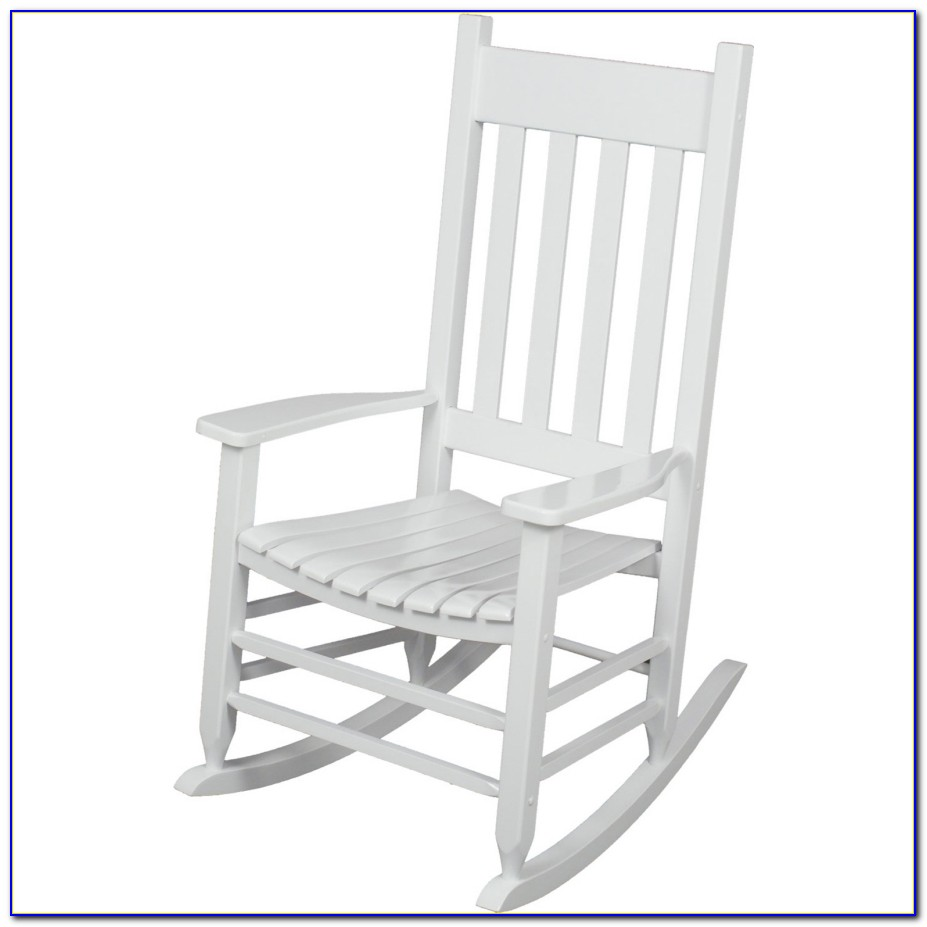 White Wooden Rocking Chair Nursery