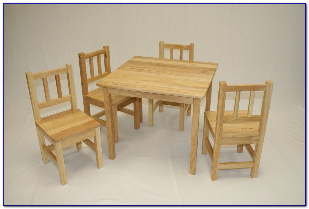 White Wooden Toddler Table And Chairs