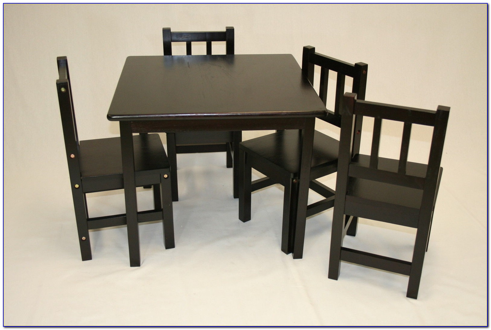 Wood Childrens Table And Chairs