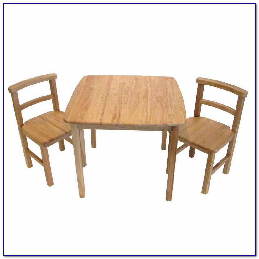 Wooden Childrens Table And Chairs Set