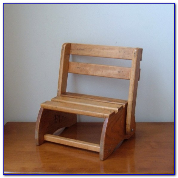 Wooden Folding Step Stool Chair