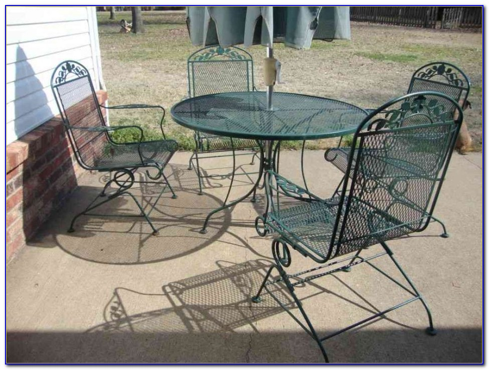 Wrought Iron Patio Chairs Vintage