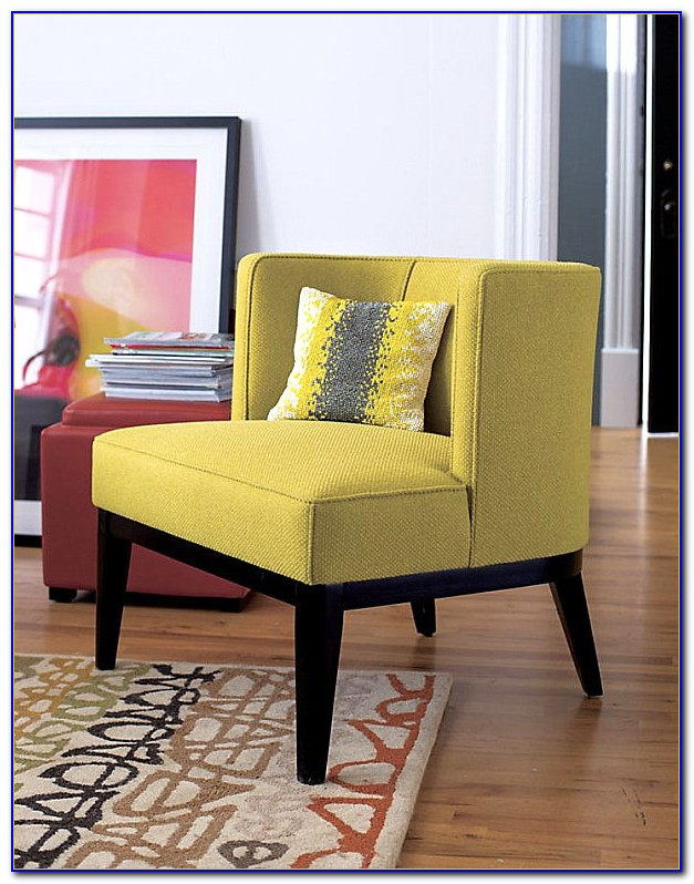 Yellow Living Room With Chair Rail