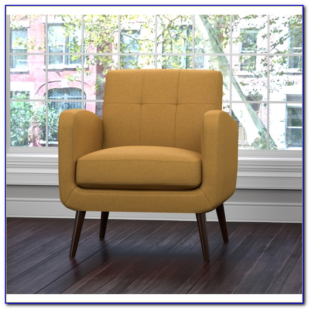 Yellow Print Living Room Chairs
