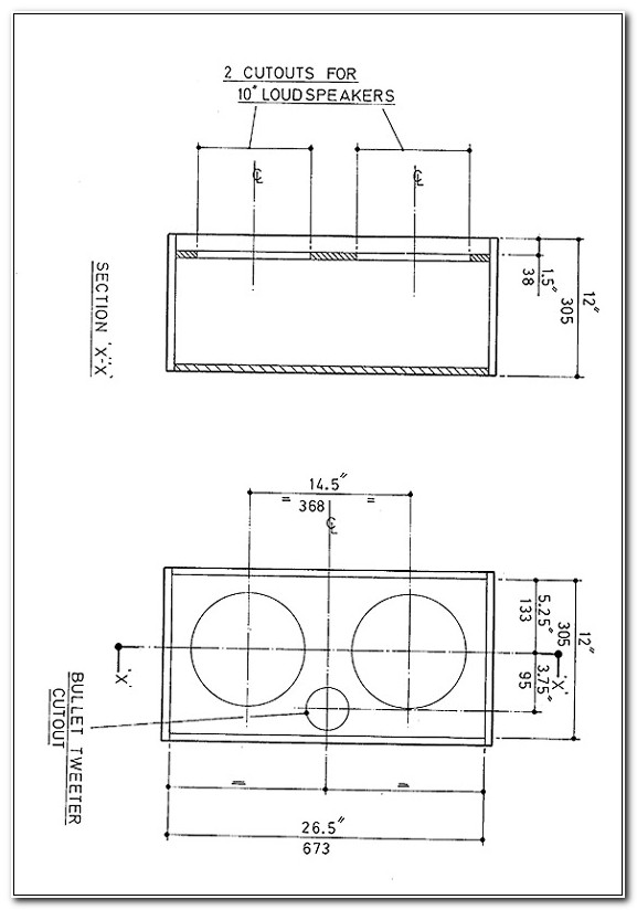12 Inch Bass Cabinet Plans