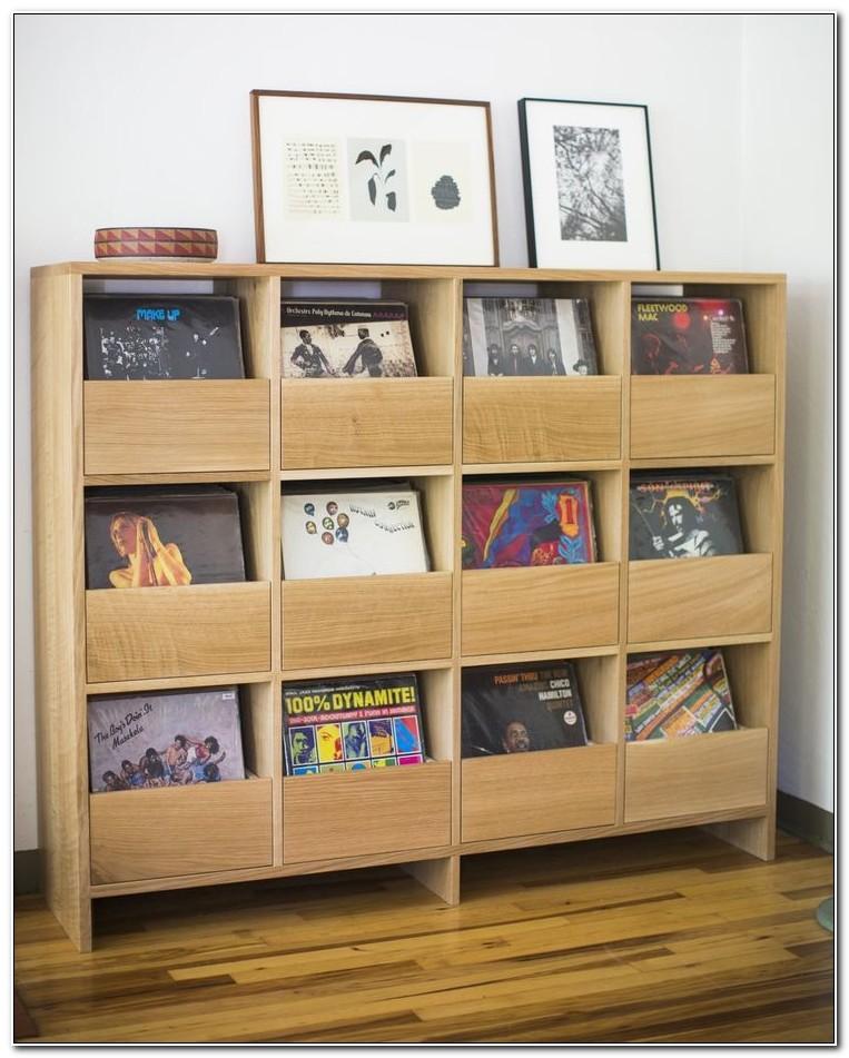 12 Lp Vinyl Record Storage Cabinets