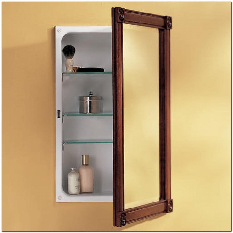 14 X 18 Recessed Medicine Cabinet Wood