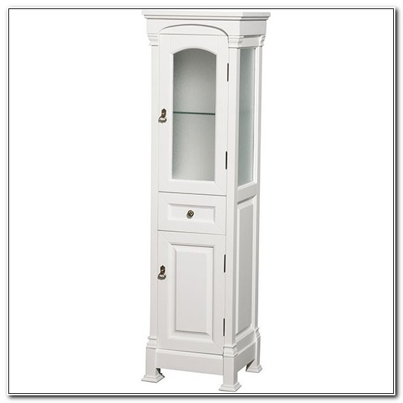 18 Inch White Linen Cabinet