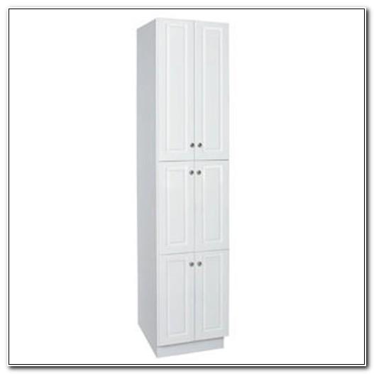 18 Inch Wide White Linen Cabinet