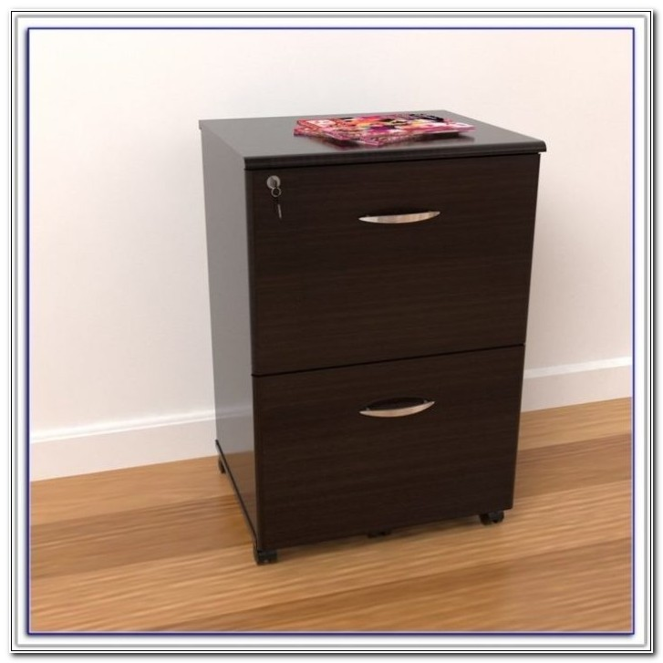 2 Drawer A4 Mobile Filing Cabinet