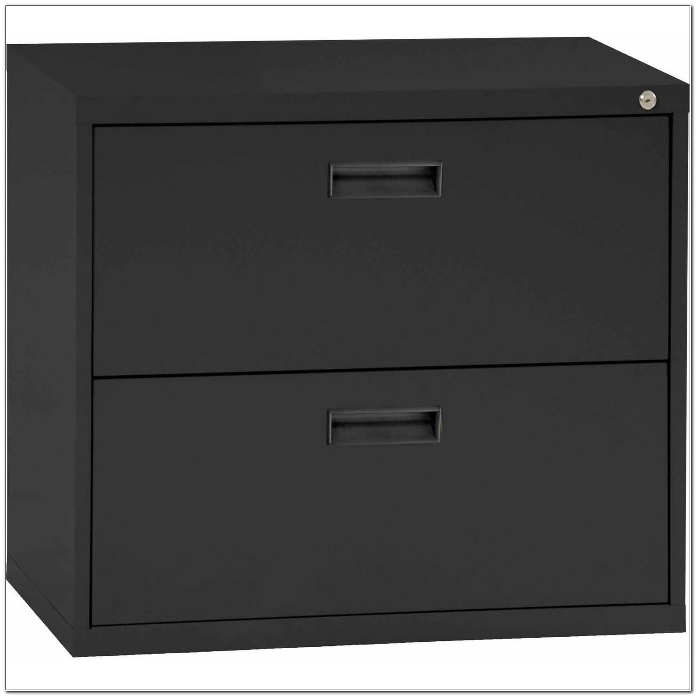 2 Drawer Black Metal File Cabinet