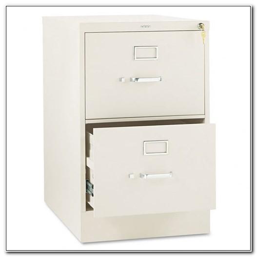 2 Drawer File Cabinet Metal Putty