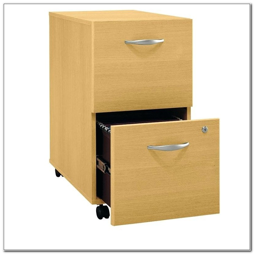 2 Drawer File Cabinet Wood Wheels