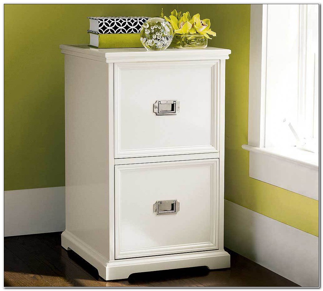 2 Drawer File Cabinet Wood White