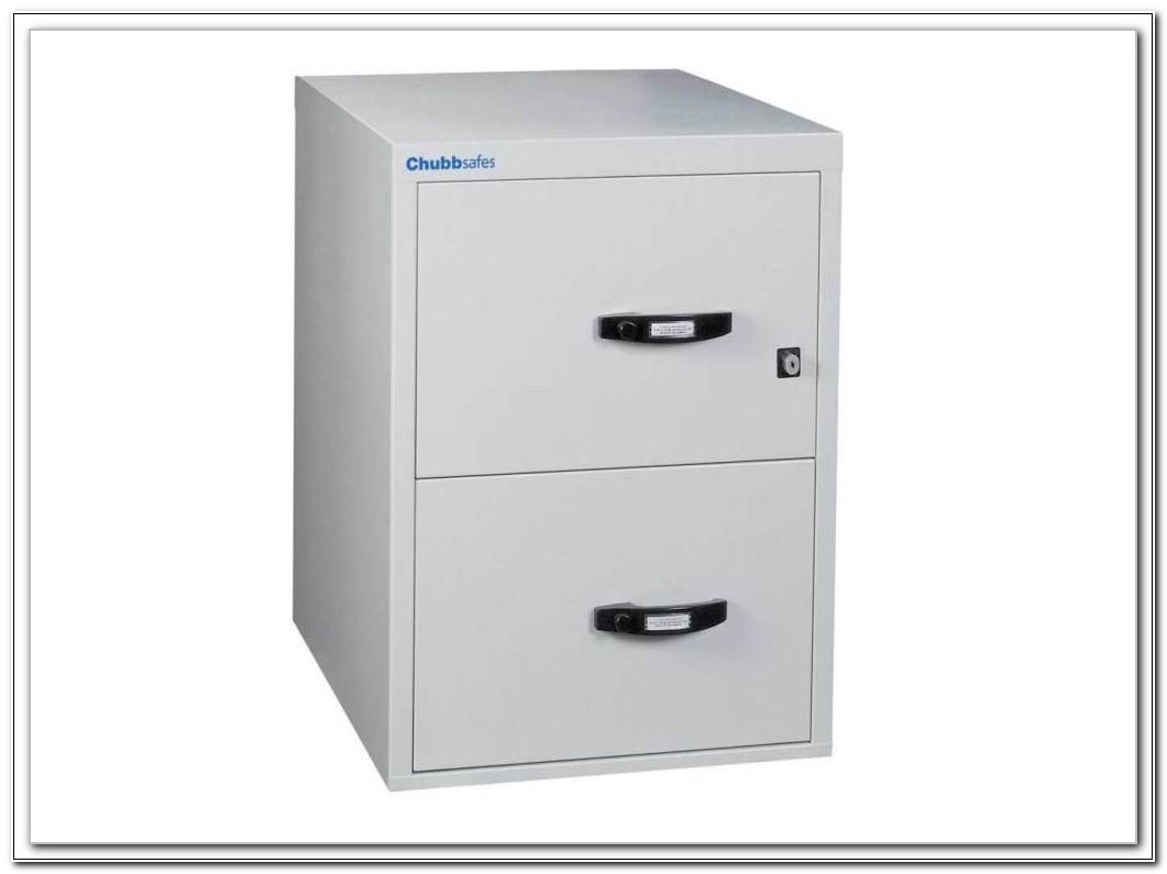2 Drawer Fireproof File Cabinet Black