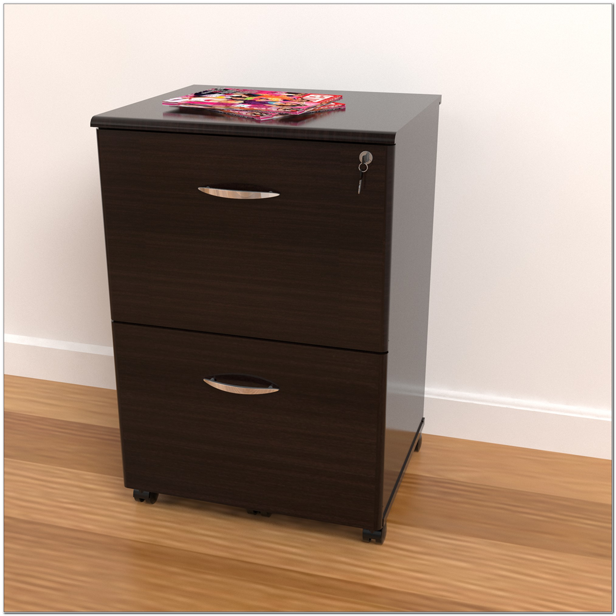 2 Drawer Foolscap Filing Cabinet On Wheels