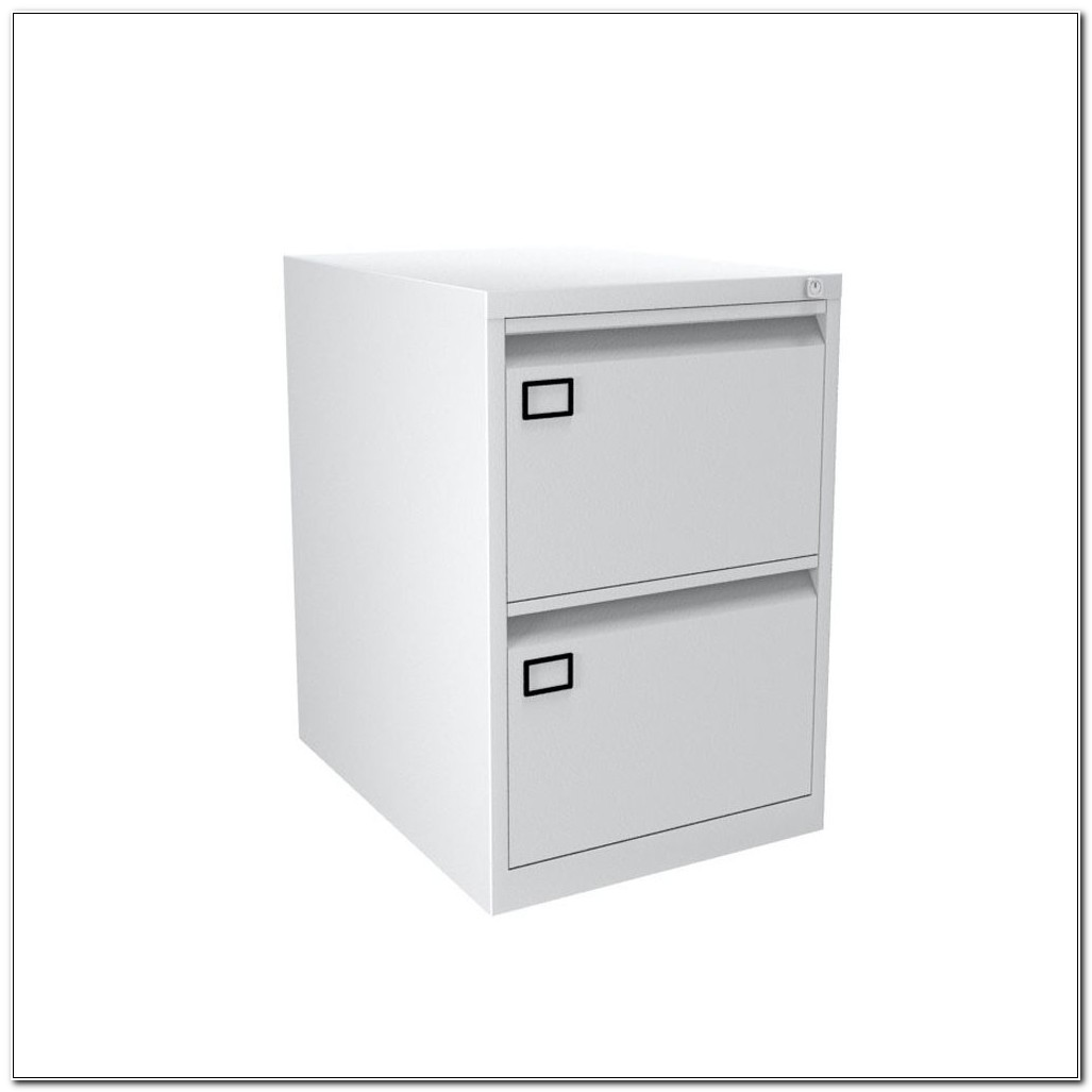 2 Drawer Foolscap Filing Cabinet White