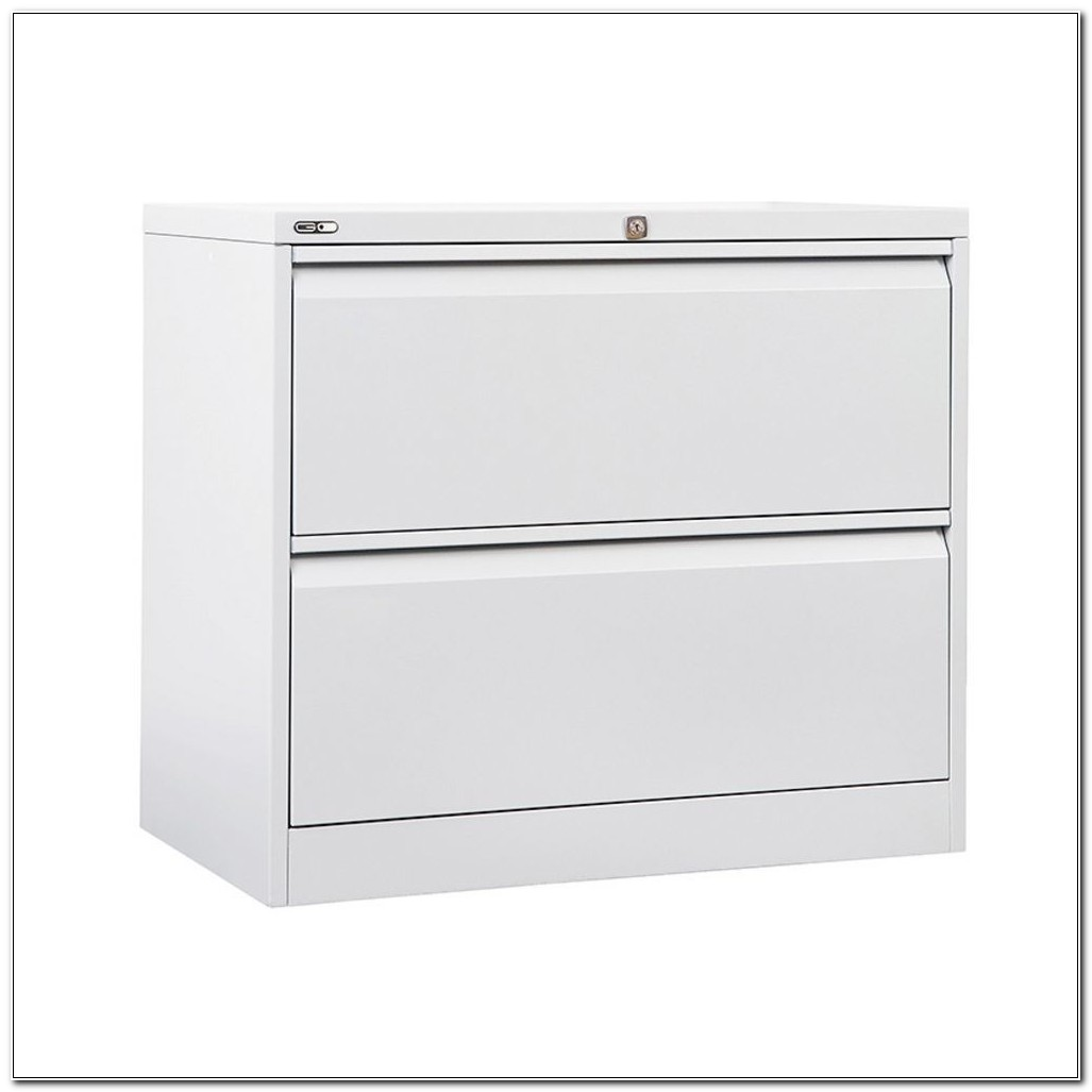2 Drawer Lateral Filing Cabinet White