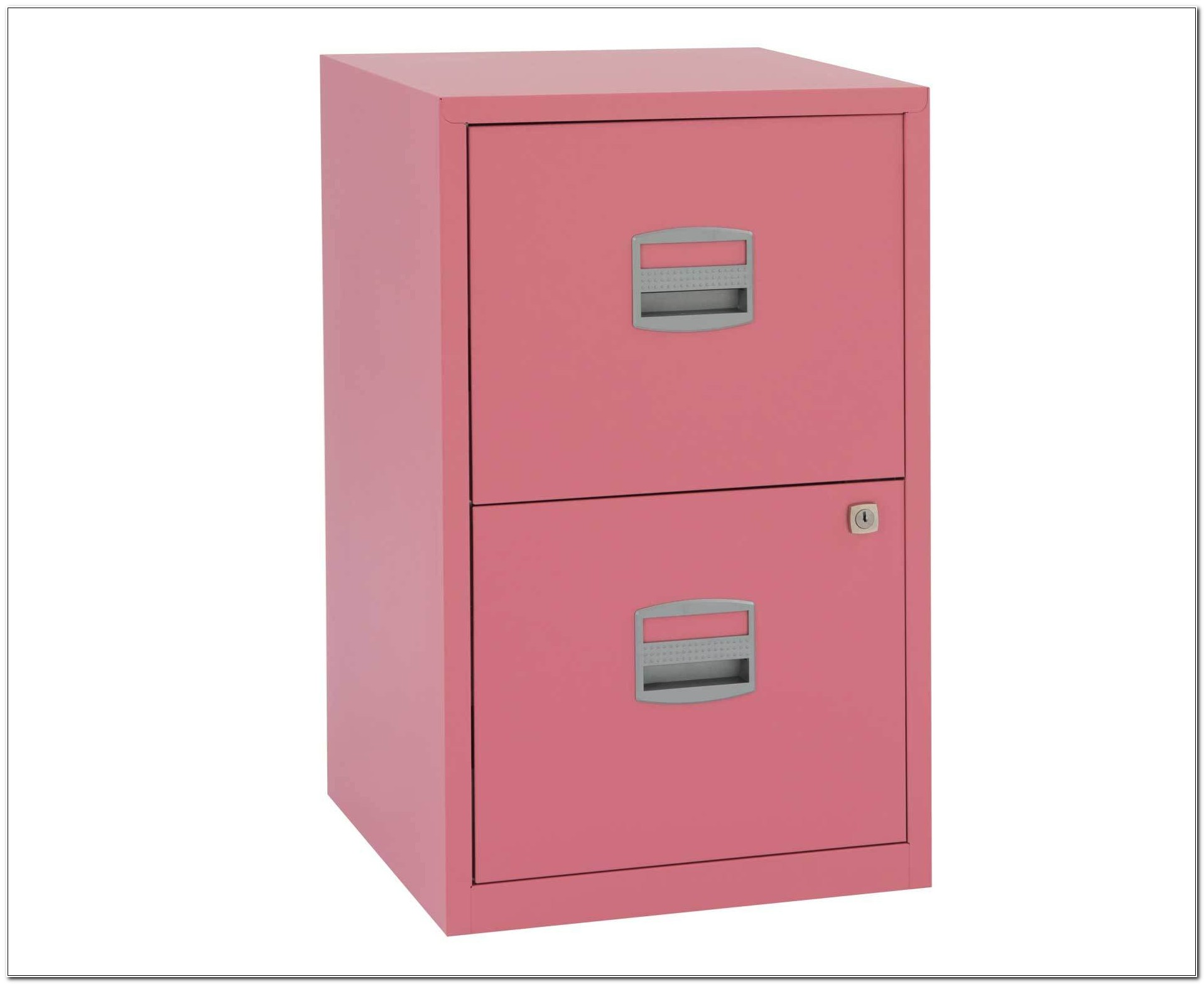 2 Drawer Metal Lockable Filing Cabinet