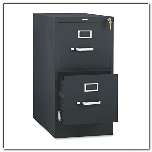 2 Drawer Vertical File Cabinet Black