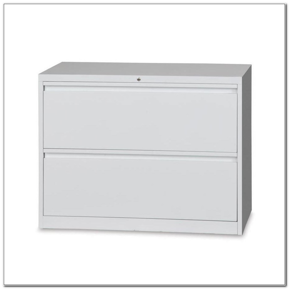 2 Drawer White Lateral File Cabinet