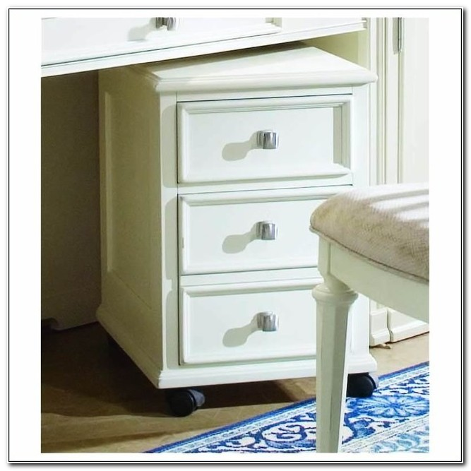 2 Drawer White Wood File Cabinet