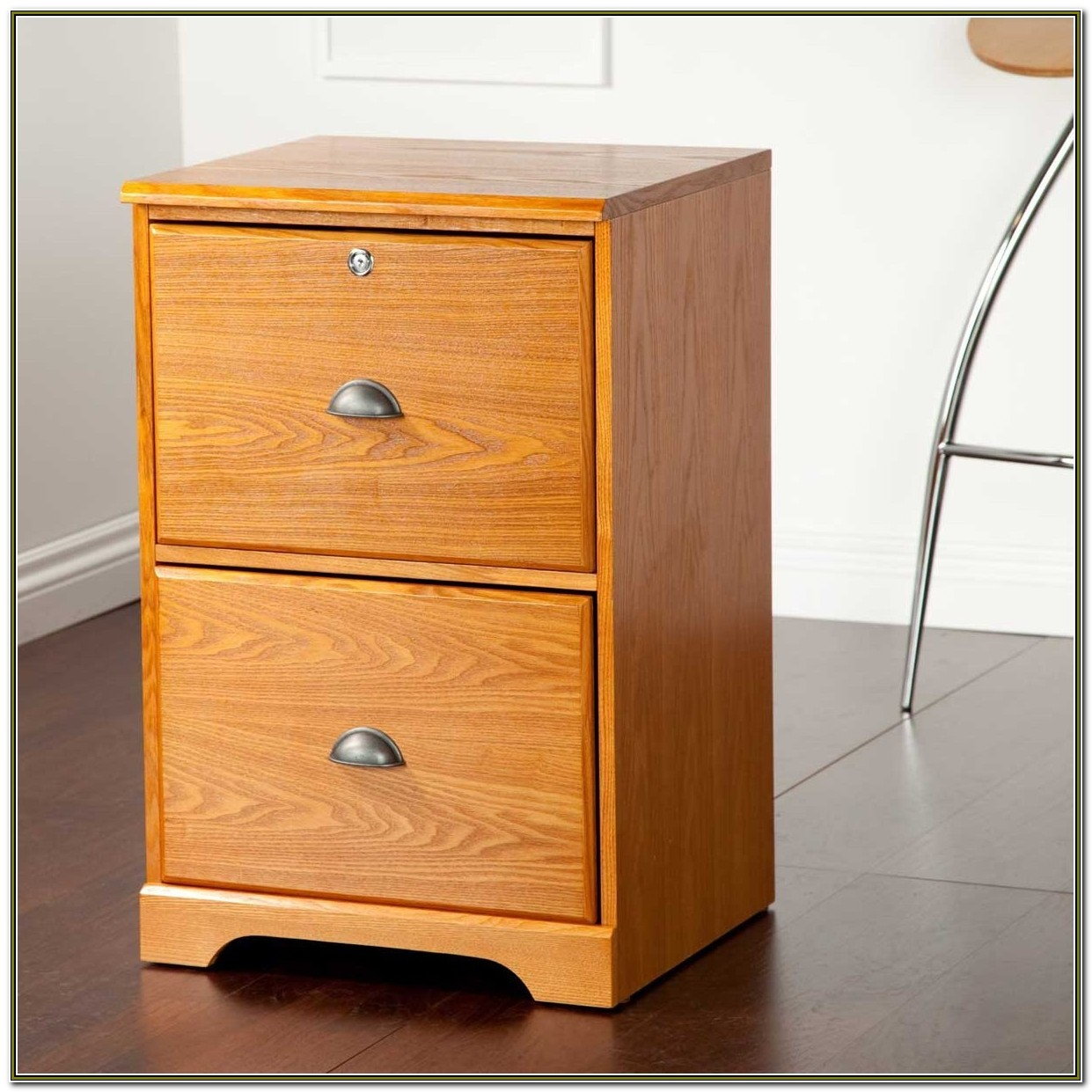 2 Drawer Wood File Cabinets