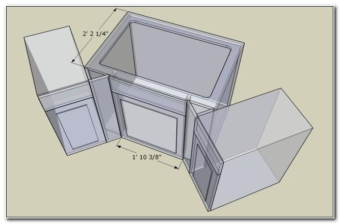 24 Inch Corner Sink Base Cabinet