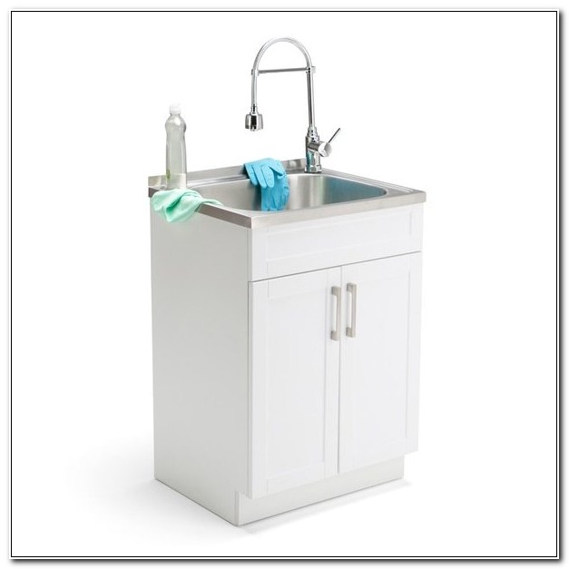 24 Inch Laundry Sink Base Cabinet