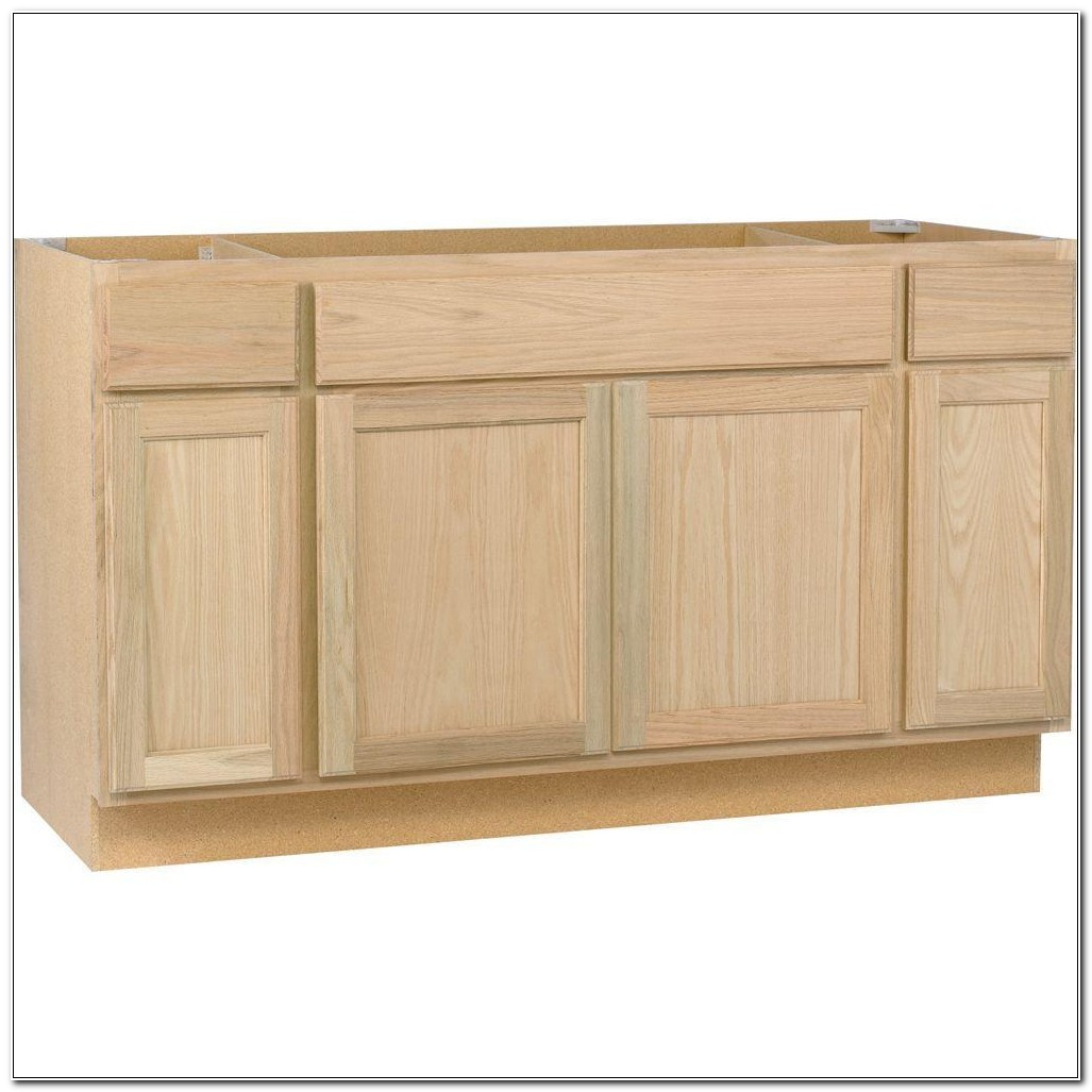 24 Inch Unfinished Sink Base Cabinet