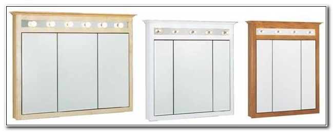 3 Door Medicine Cabinet With Lights