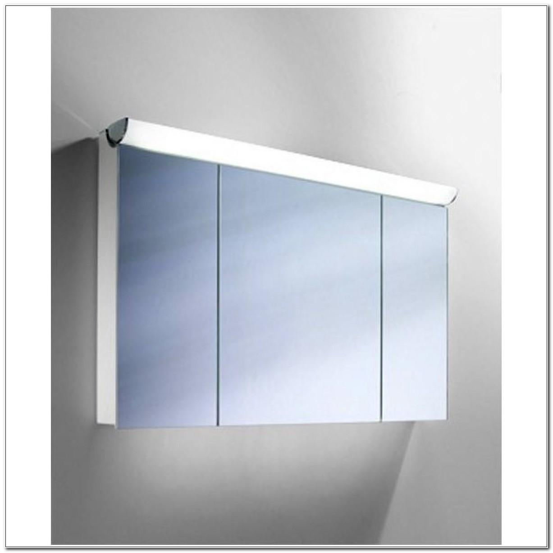 3 Door Mirrored Illuminated Bathroom Cabinet