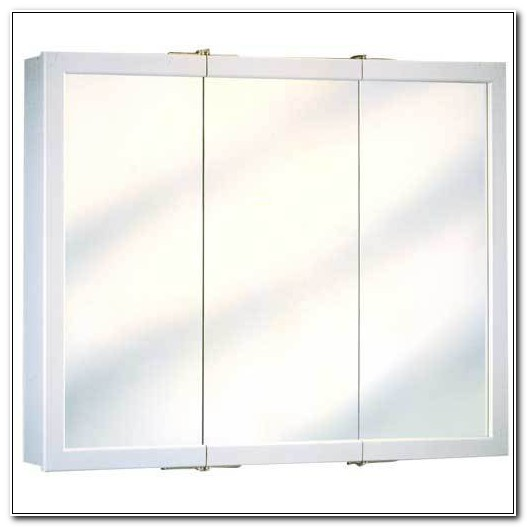 3 Door Mirrored Medicine Cabinet